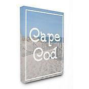 Cuadro en Lienzo Playa Cape Cod Vintage 76x102