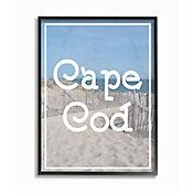 Cuadro en Lienzo Enmarcado Playa Cape Vintage 28x36