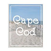 Cuadro Decorativo Playa Cape Cod Vintage Placa 32x47