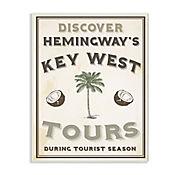 Cuadro Decorativo Hemingways Key West Tours Placa 25x38