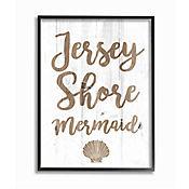 Cuadro en Lienzo Enmarcado Jerseyshore Mermaid 41x51