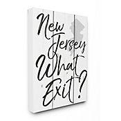 Cuadro en Lienzo New Jersey What Exit 76x102