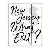 Cuadro Decorativo New Jersey What Exit Placa 25x38