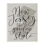 Cuadro Decorativo New Jersey Garden State Placa 25x38