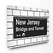 Cuadro en Lienzo New Jersey Bridge And Tunnel 76x102