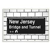 Cuadro Decorativo New Jersey Bridge Tunnel Placa 25x38