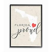Cuadro en Lienzo Enmarcado Florida Proud 41x51