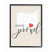 Cuadro en Lienzo Enmarcado Ohio Proud Corazón 28x36