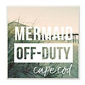 Cuadro Decorativo Mermaid Off Duty Placa 30x30