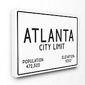 Cuadro en Lienzo Atlanta City Limit 61x76