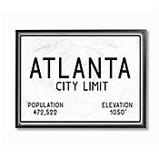 Cuadro en Lienzo Enmarcado Atlanta City Limit 41x51
