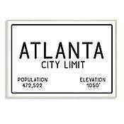 Cuadro Decorativo Atlanta City Limit Placa 25x38