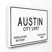 Cuadro en Lienzo Austin City Limit 61x76