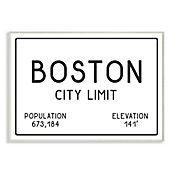 Cuadro Decorativo Boston City Limit Placa 25x38