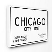 Cuadro en Lienzo Chicago City Limit 76x102