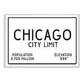 Cuadro Decorativo Chicago City Limit Placa 25x38