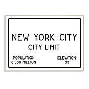 Cuadro Decorativo NYC City Limit Placa 32x47