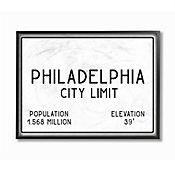 Cuadro en Lienzo Enmarcado Philly City Limit 28x36
