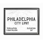 Cuadro en Lienzo Enmarcado Philly City Limit 41x51