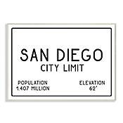 Cuadro Decorativo San Diego City Limit Placa 32x47