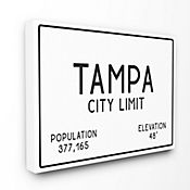 Cuadro en Lienzo Tampa City Limit 76x102