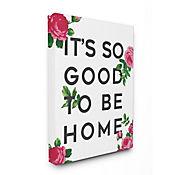 Cuadro en Lienzo So Good To Be Home Rosas 41x51