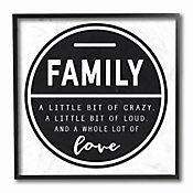 Cuadro en Lienzo Enmarcado Family Is A Bit Of Crazy 30x30