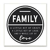 Cuadro Decorativo Family Is A Bit Of Crazy Placa 30x30