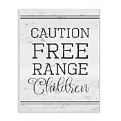 Cuadro Decorativo Caution Free Range Placa 25x38