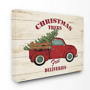 Cuadro en Lienzo Merry Christmas Vintage Truck 41x51