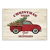 Cuadro Decorativo Merry Christmas Vintage Truck Placa 32x47