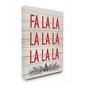 Cuadro en Lienzo Christmas Deck The Halls Fa La La 41x51