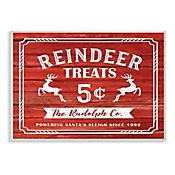 Cuadro Decorativo Reindeer Treats Placa 25x38