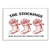 Cuadro Decorativo Christmas The Stockings Placa 25x38