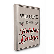Cuadro en Lienzo Welcome To Our Holiday Lodge 61x76