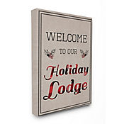 Cuadro en Lienzo Welcome To Our Holiday Lodge 76x102