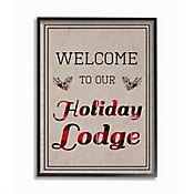 Cuadro en Lienzo Enmarcado Welcome Holiday Lodge 41x51