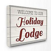 Cuadro en Lienzo Welcome Holiday Lodge Vintage 76x102