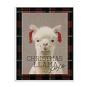 Cuadro Decorativo Christmas Llama Xoxo Placa 32x47