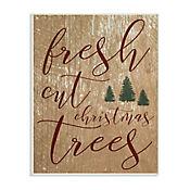 Cuadro Decorativo Fresh Cut Christmas Tree Placa 25x38