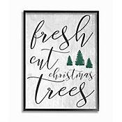 Cuadro en Lienzo Enmarcado Fresh Cut Christmas Gris 28x36
