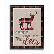 Cuadro en Lienzo Enmarcado Merry Christmas Deer 28x36