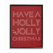Cuadro en Lienzo Enmarcado Holly Jolly 41x51