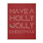 Cuadro Decorativo Holly Jolly Placa 25x38
