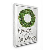 Cuadro en Lienzo Home For The Holidays Wreath 76x102