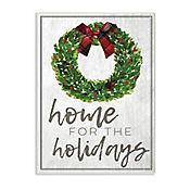 Cuadro Decorativo Holidays Wreath Bow Placa 25x38