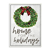 Cuadro Decorativo Holidays Wreath Bow Placa 32x47
