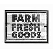 Cuadro en Lienzo Enmarcado Farm Fresh Goods 28x36