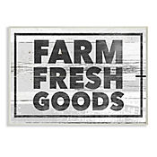 Cuadro Decorativo Farm Fresh Goods Placa 25x38
