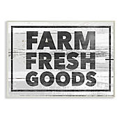 Cuadro Decorativo Farm Fresh Goods Placa 32x47